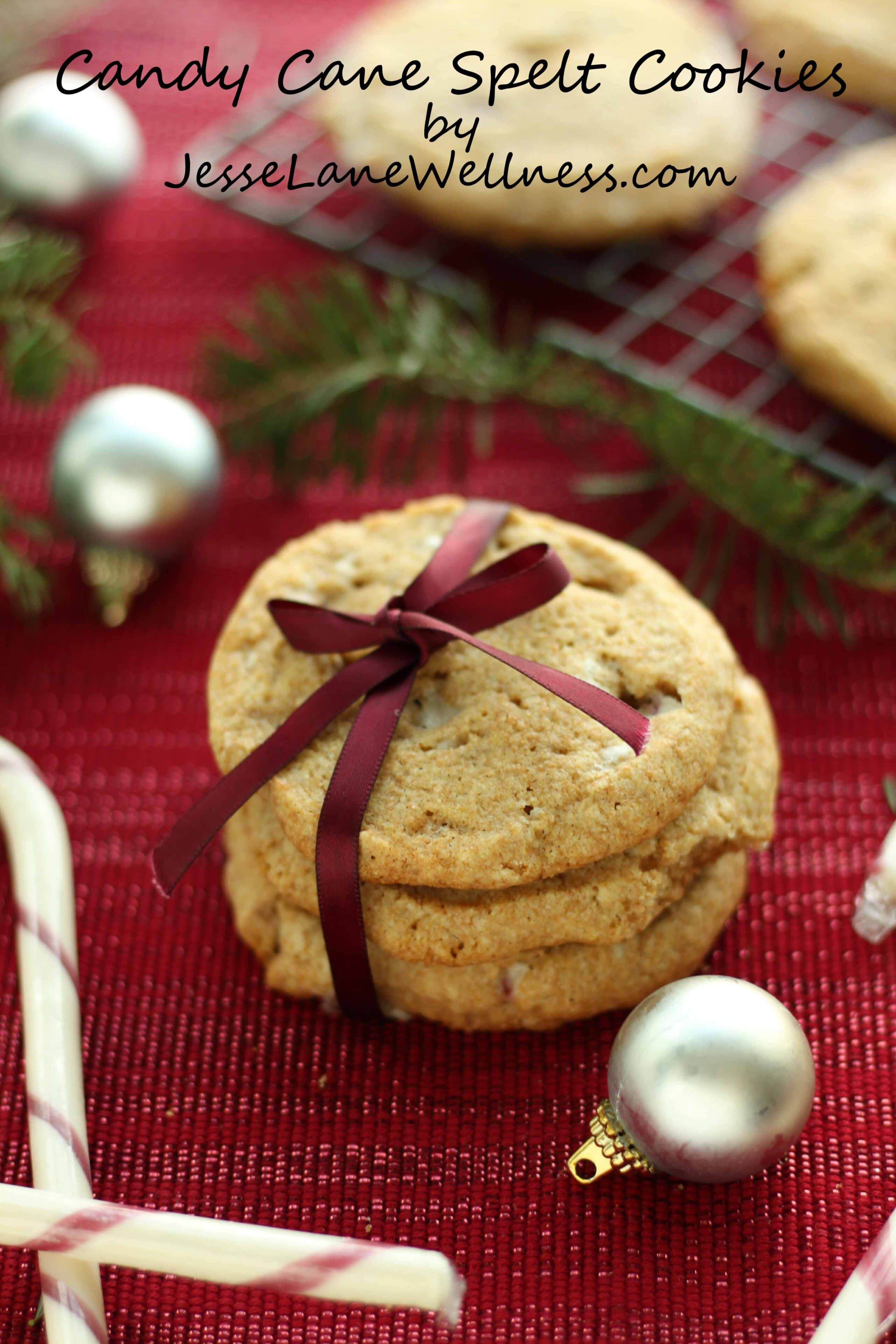 Candy Cane Spelt Cookies by @jesselwellness #christmas #speltcookies