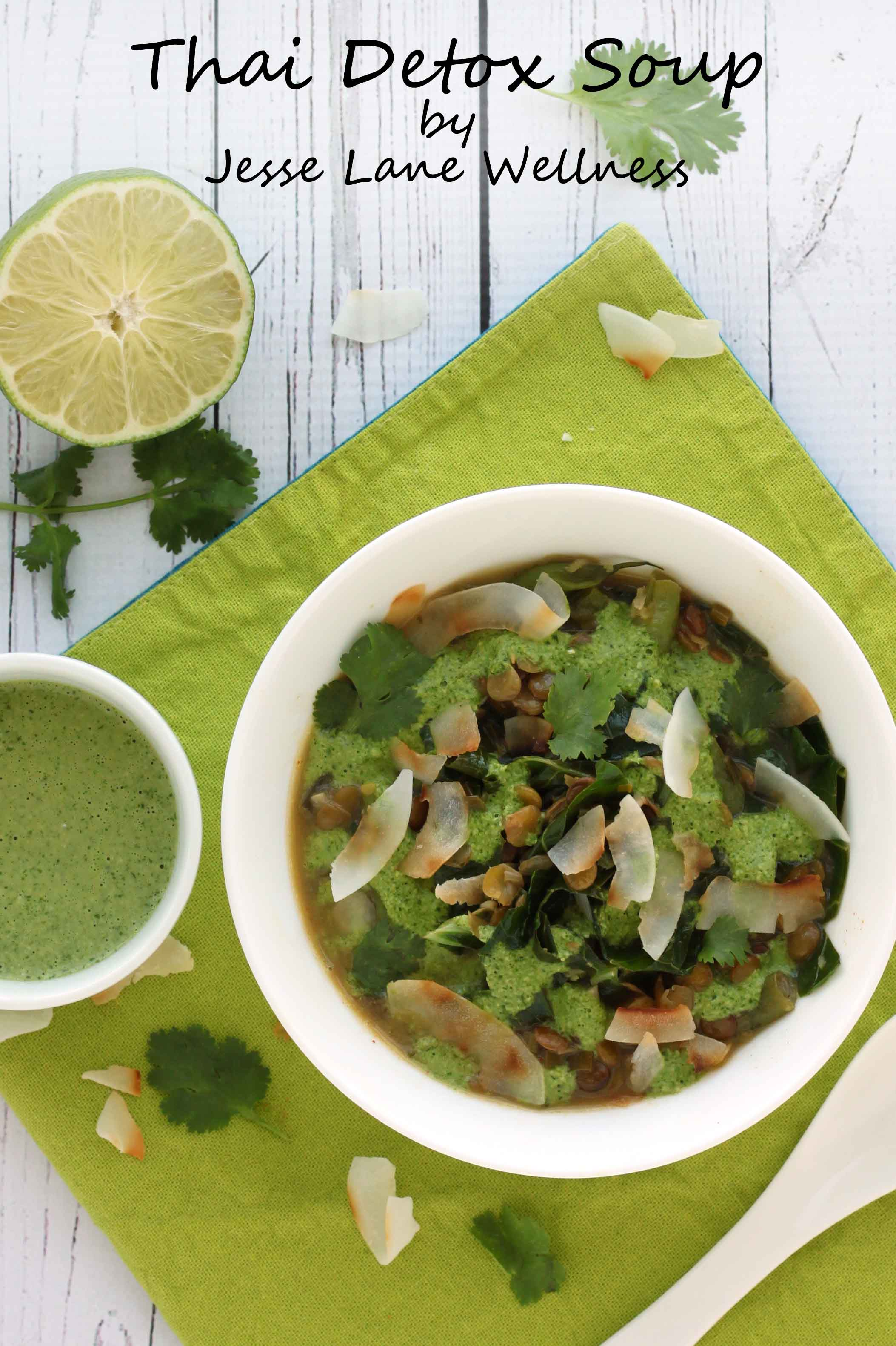 Thai Green Soup by @jesselwellness #detoxsoup #souptime