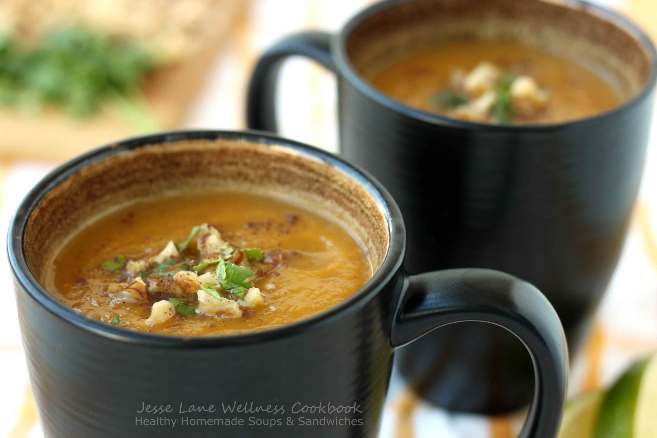 Creamy Butternut Squash Soup from @jesselwellness Healthy Homemade Soups and Sandwiches #jlwcookbook