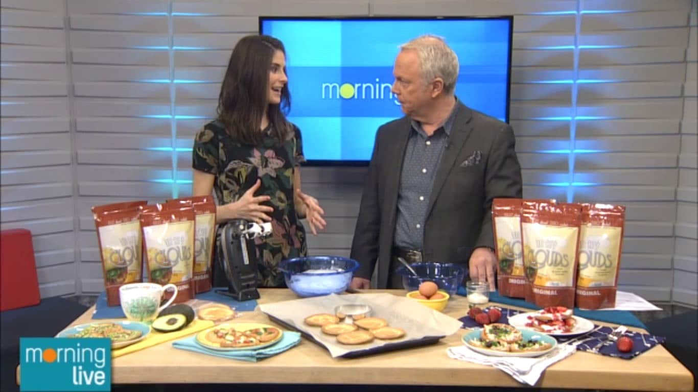 CH Morning Live Cloud Bread segment with @jesselwellness #cloudbread #glutenfree