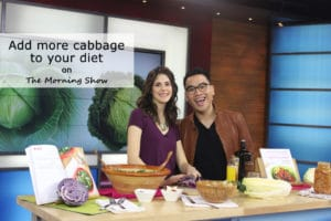 Global Morning Show TV Segment with @jesselwellness - Add more cabbage to your diet #cabbage #coleslaw