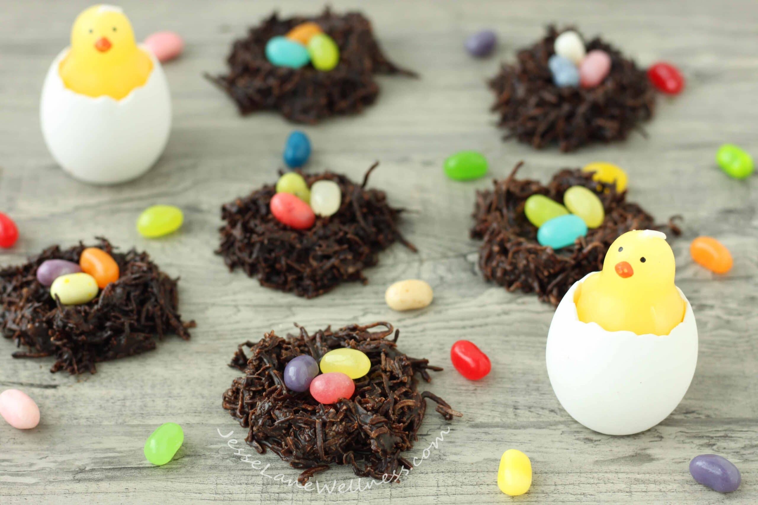 Chocolate Coconut Easter Nests by @jesselwellness #easter #chocolate