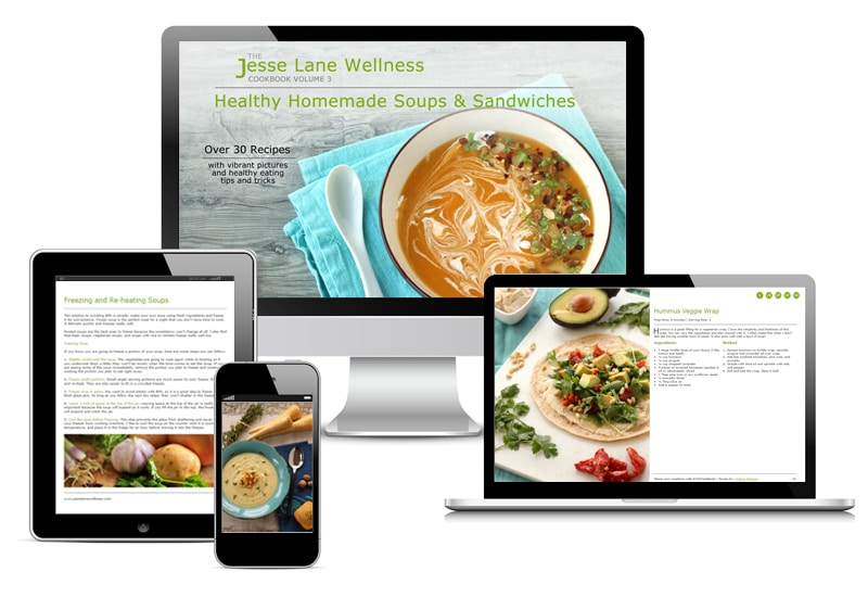 Jesse Lane Wellness Healthy Homemade Soups and Sandwiches Digital by @jesselwellness #eBook #jlwcookbook