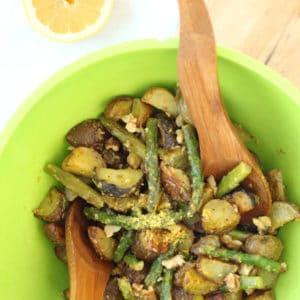 Warm Potato and Asparagus Salad by @jesselwellness #potato #salad squarey