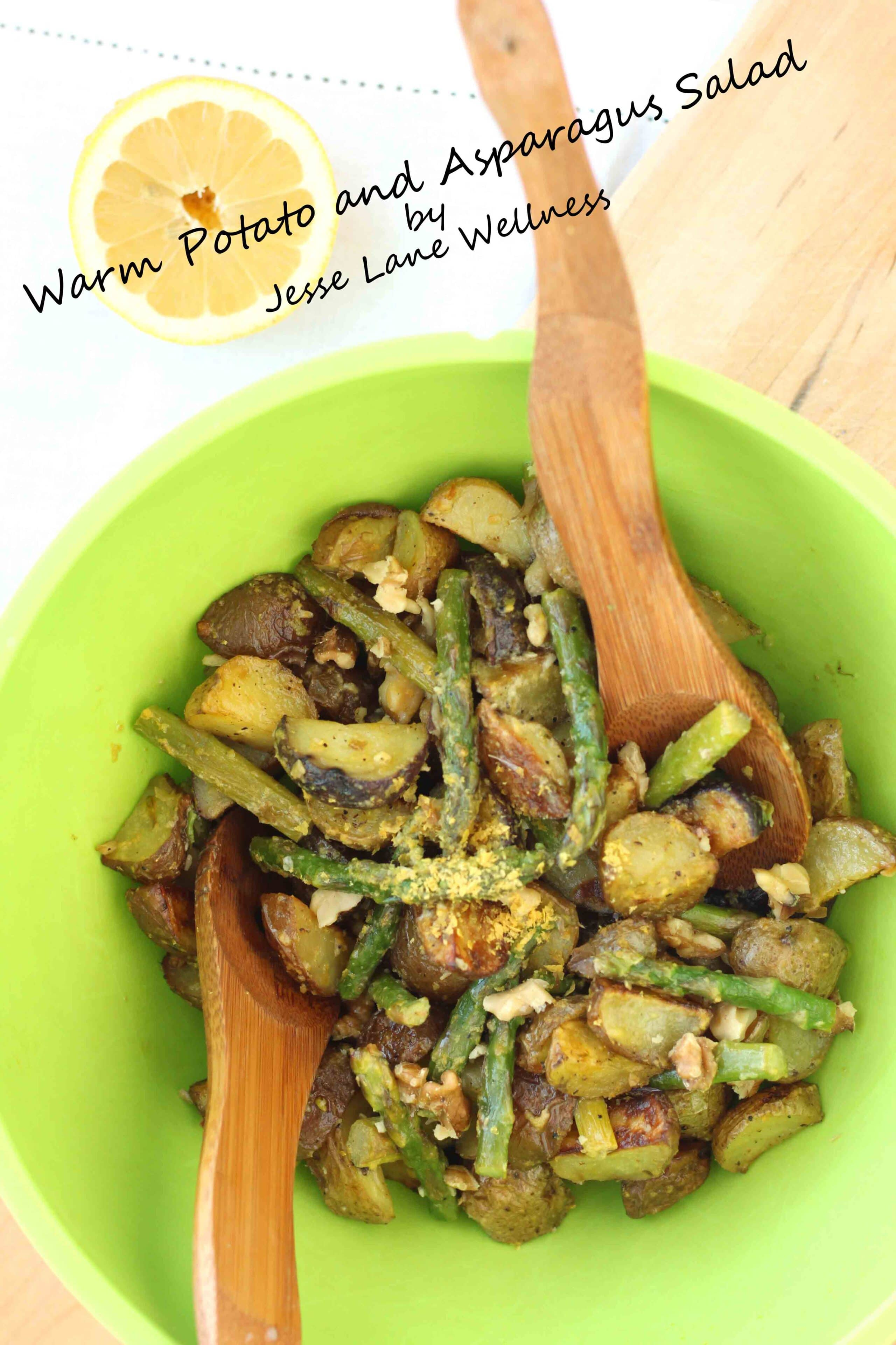 Warm Potato and Asparagus Salad by @jesselwellness #potato #salad
