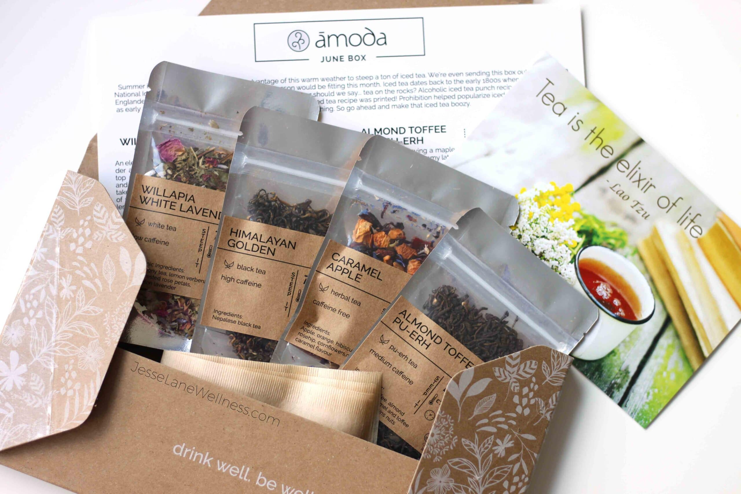 Amoda Monthly Tea Box Review with @jesselwellness #tealove #teatime