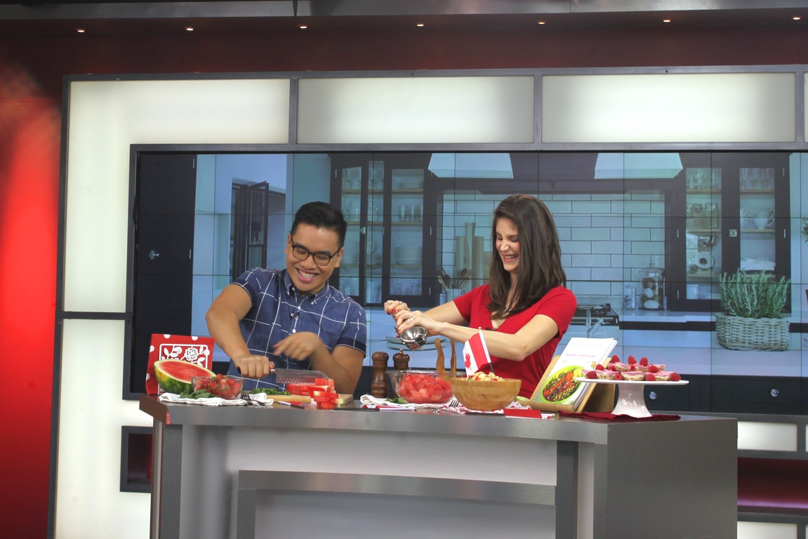 Healthy Canada Day Recipes on The Morning Show with @jesselwellness #canadaday #canada150