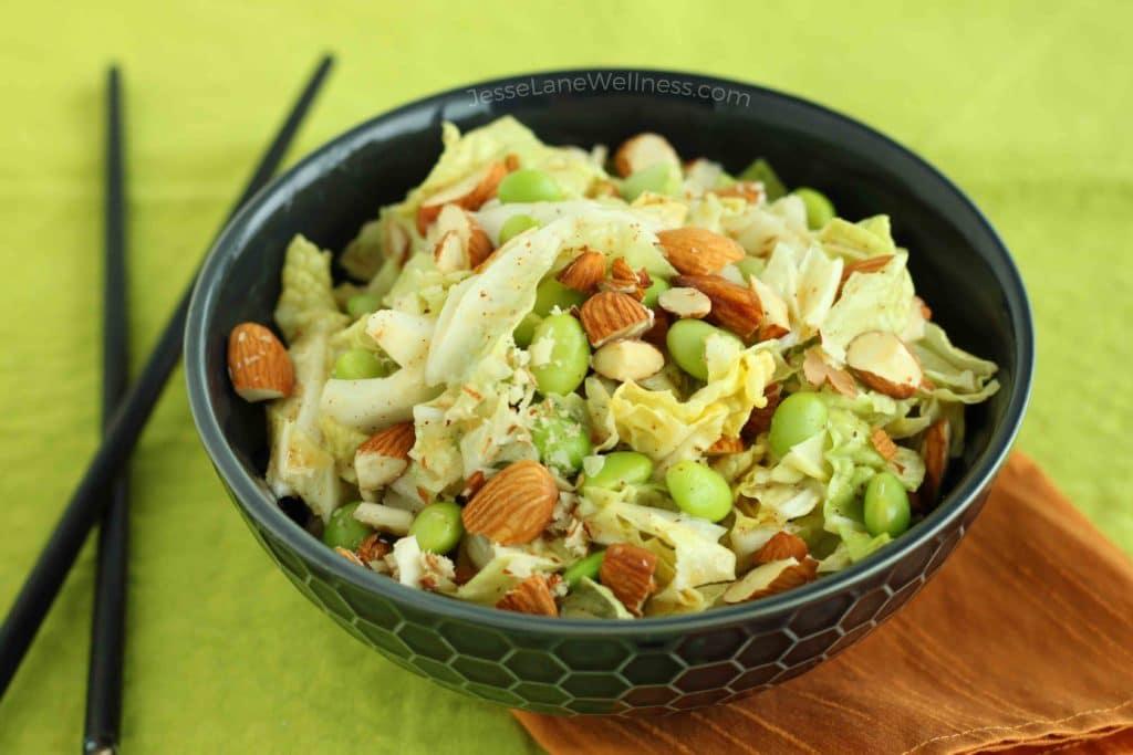 Asian Napa Cabbage Slaw by @jesselwellness #asianslaw #freshsalad