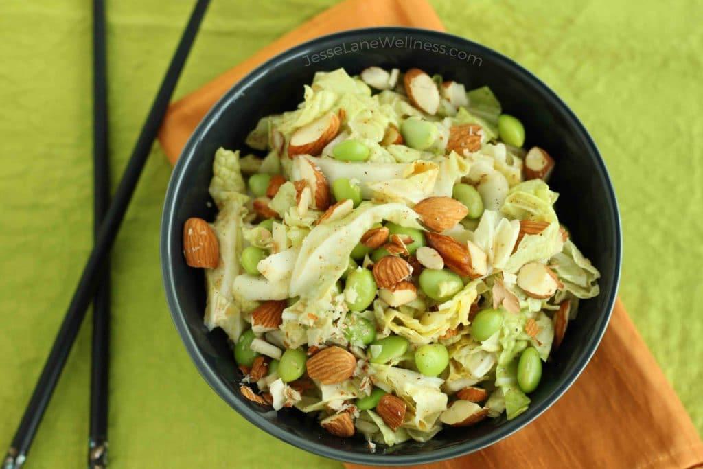Asian Napa Cabbage Slaw by @jesselwellness #slaw #napacabbage