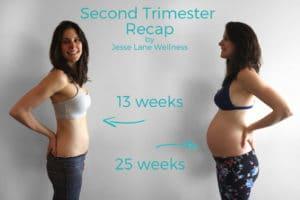 SecondTrimester Recap by @jesselwellness #secondtrimester #pregnancy