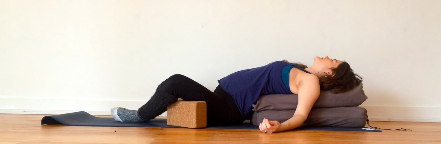 Yoga Prescriptions For Common Pregnancy Ailments Heartbed for Heartburn on @jesselwellness #pregnancy #heartburn