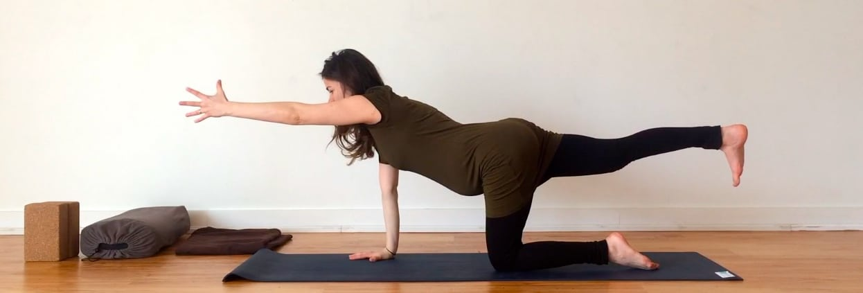 Yoga Prescriptions For Common Pregnancy Ailments - imbalance on @jesselwellness #prenatalyoga #balance
