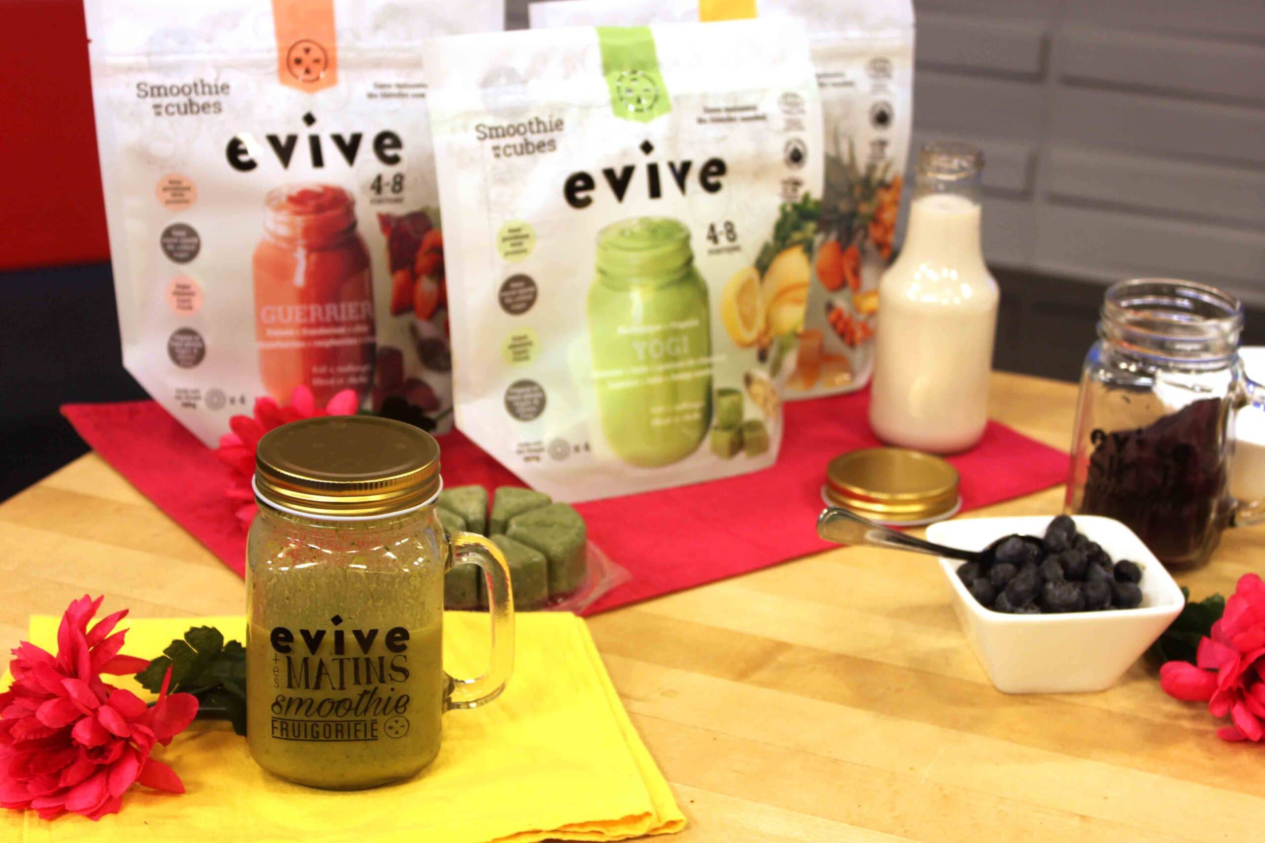 Building a Beautiful Smoothie Bowl on CH Morning Live #evivesmoothie