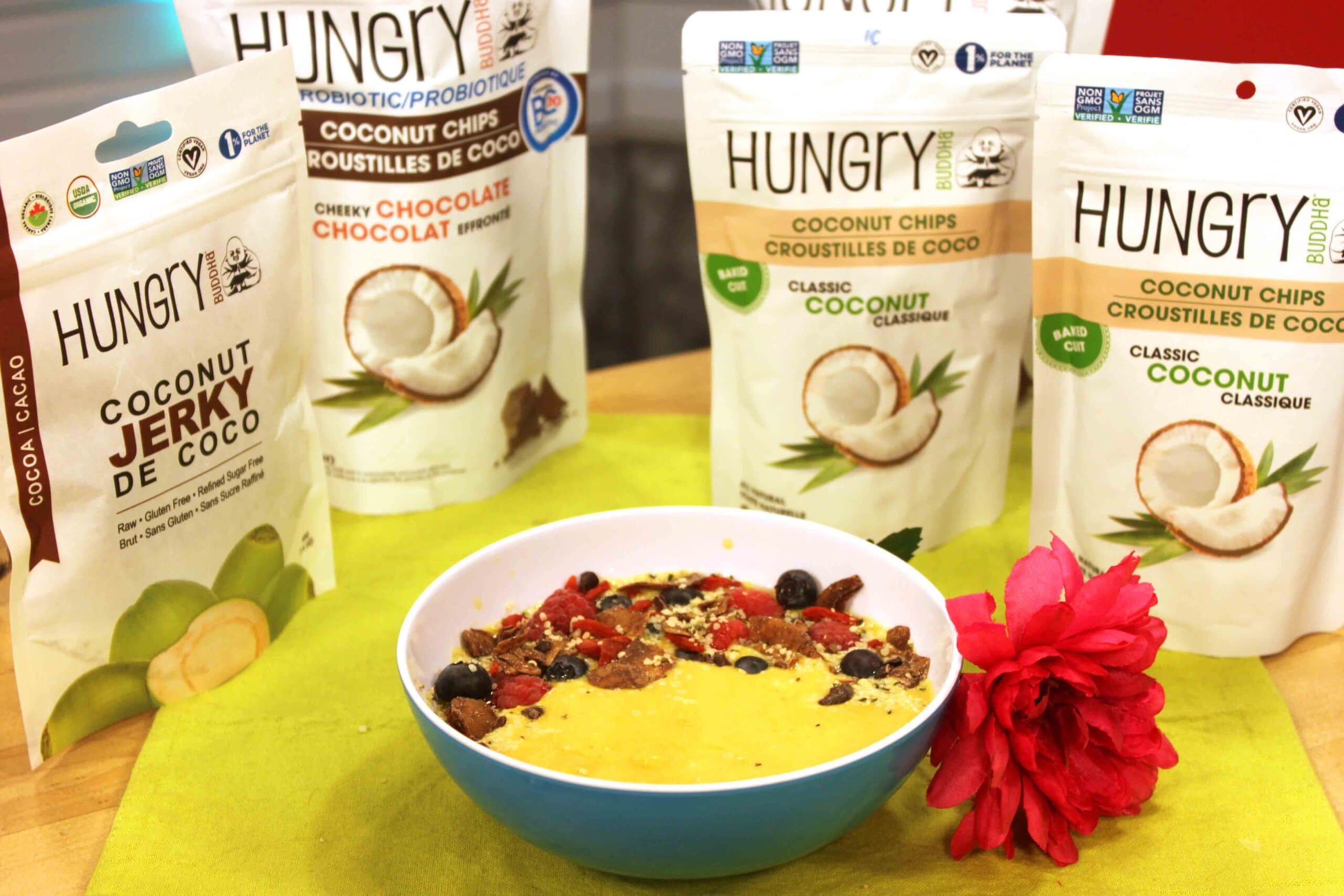 Building a Beautiful Smoothie Bowl on CH Morning Live #hungrybuddha