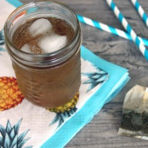 Cold Brew Iced Tea by @jesselwellness #greentea