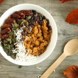 Pumpkin Pie Oats by @jesselwellness #pumpkin #oats