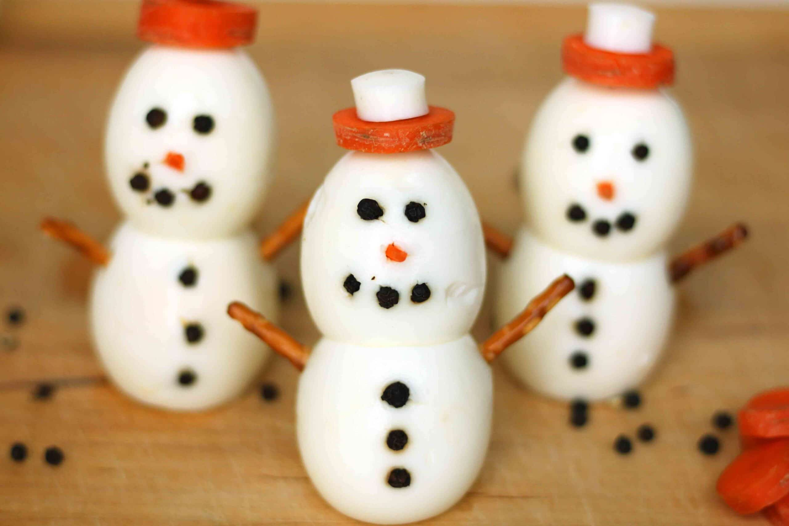 Egg Snowmen Pinterest Worthy Holiday Eats on Breakfast Television with @jesselwellness