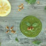 Creamy Vegan Pesto by @jesselwellness #veganpesto