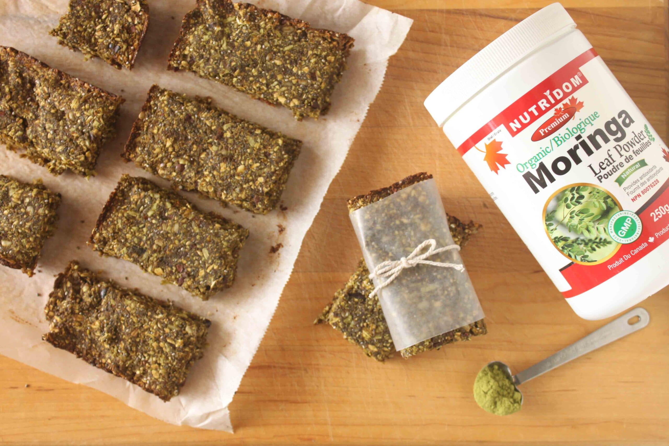 Moringa Snack Bars by @jesselwellness