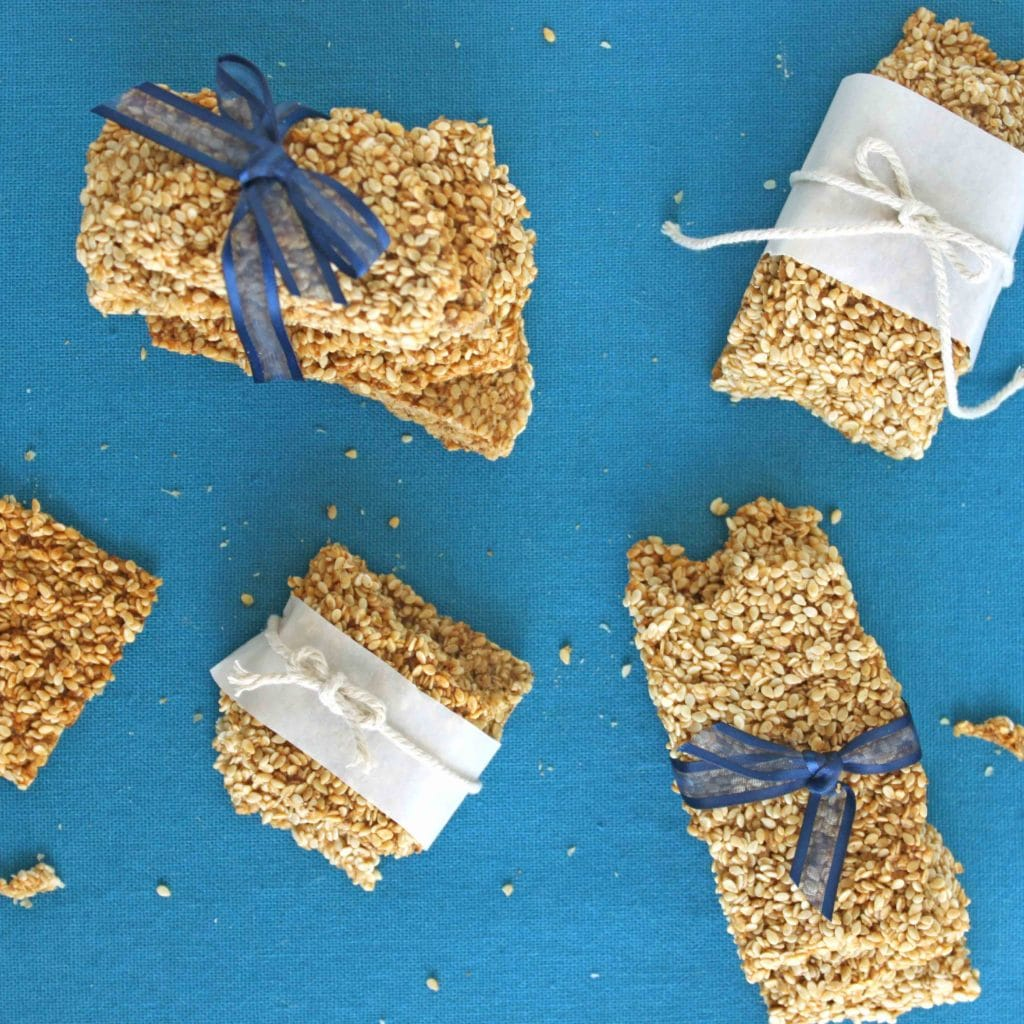 Healthy Homemade Sesame Snaps square