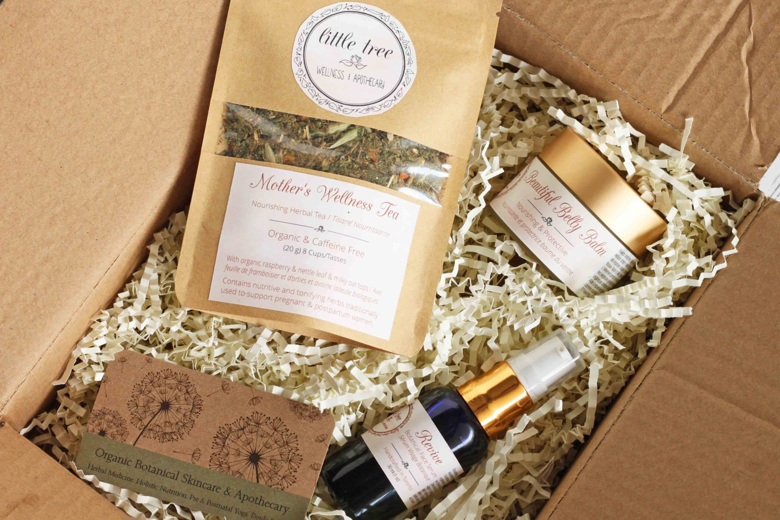 Natural ways to feel beautiful inside and out during pregnancy little tree wellness products box