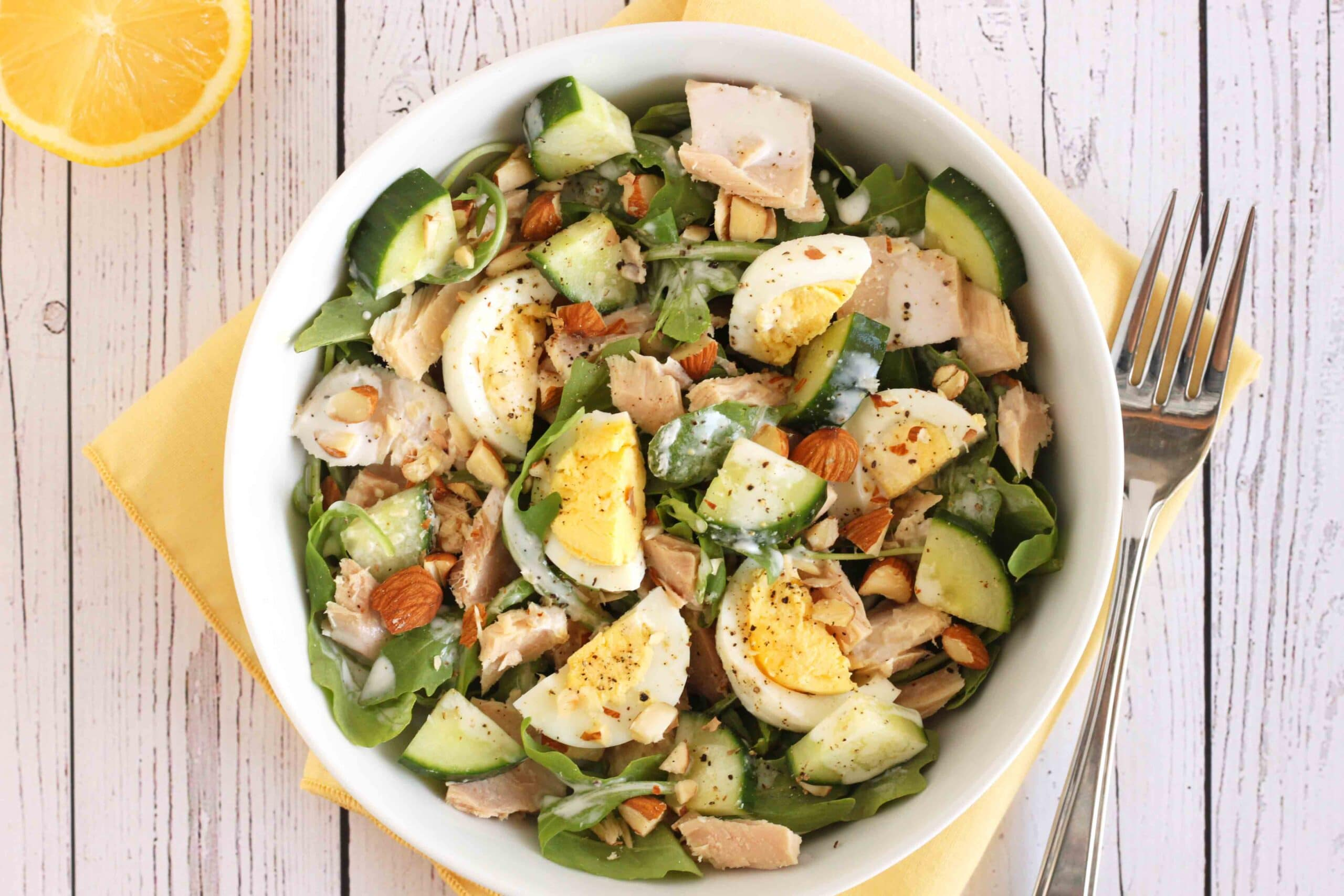 Egg and Tuna Protein-packed Salad by Jesse Lane Lee