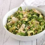 Rocket Chicken Brussels Sprout Salad by @jesselwellness #rocketchickensalad