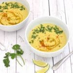 Coconut Curry Corn Soup by @jesselwellness #healthysoup