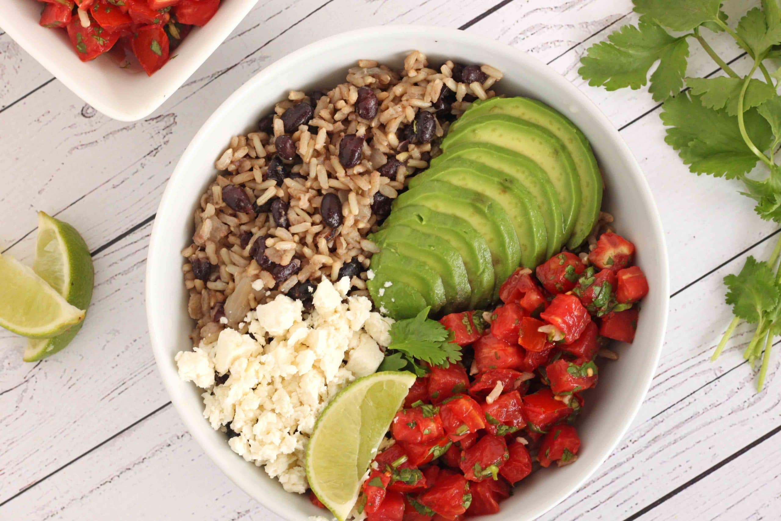 Fiesta Beans and Rice by Jesse Lane Wellness #vegetariandinner