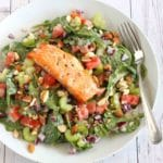 Creamy Salmon Salad by Jesse Lane Lee #lowcarb