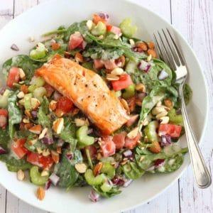 Creamy Salmon Salad by Jesse Lane Lee #lowcarb