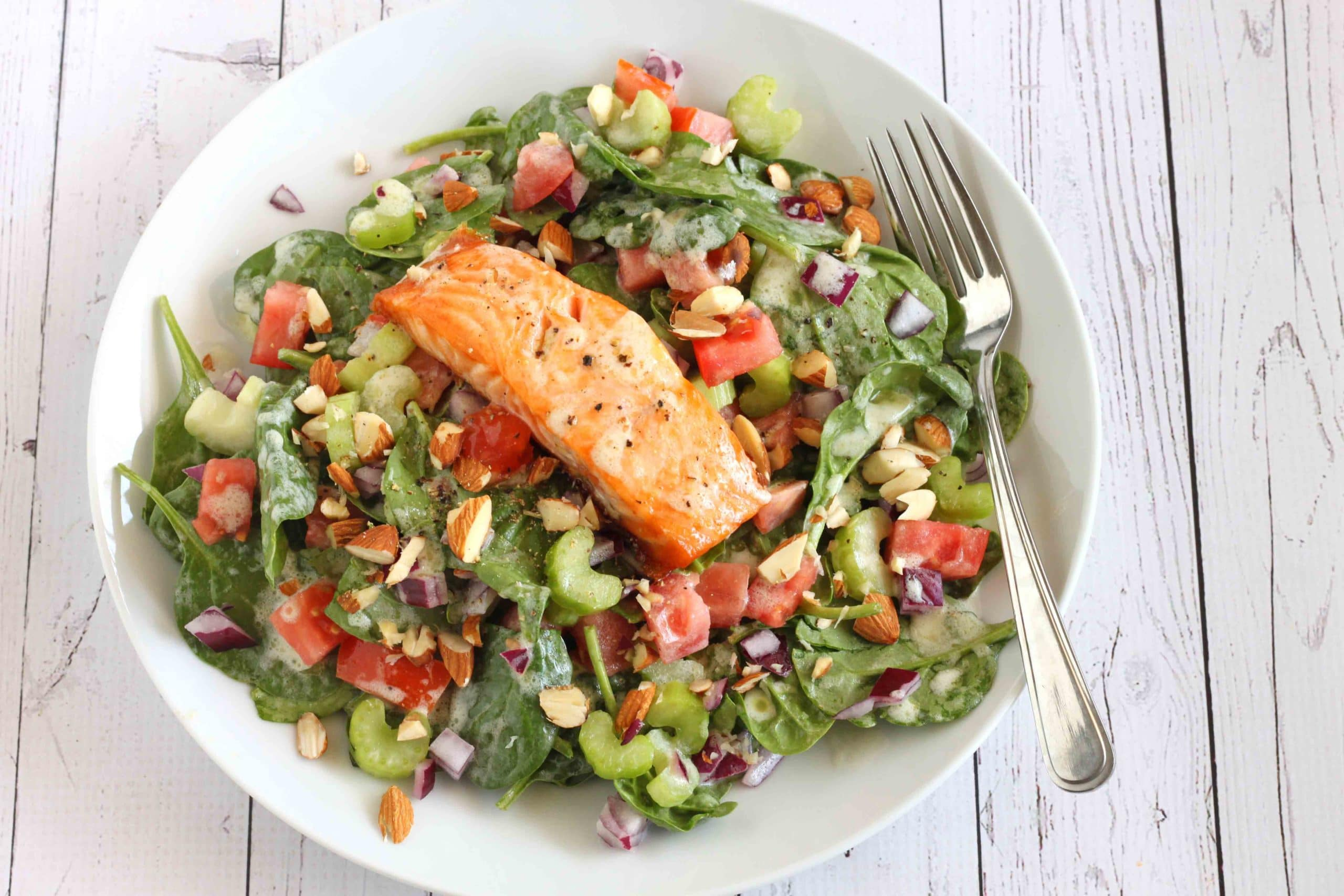 Creamy Salmon Salad by Jesse Lane Lee #salmonsalad