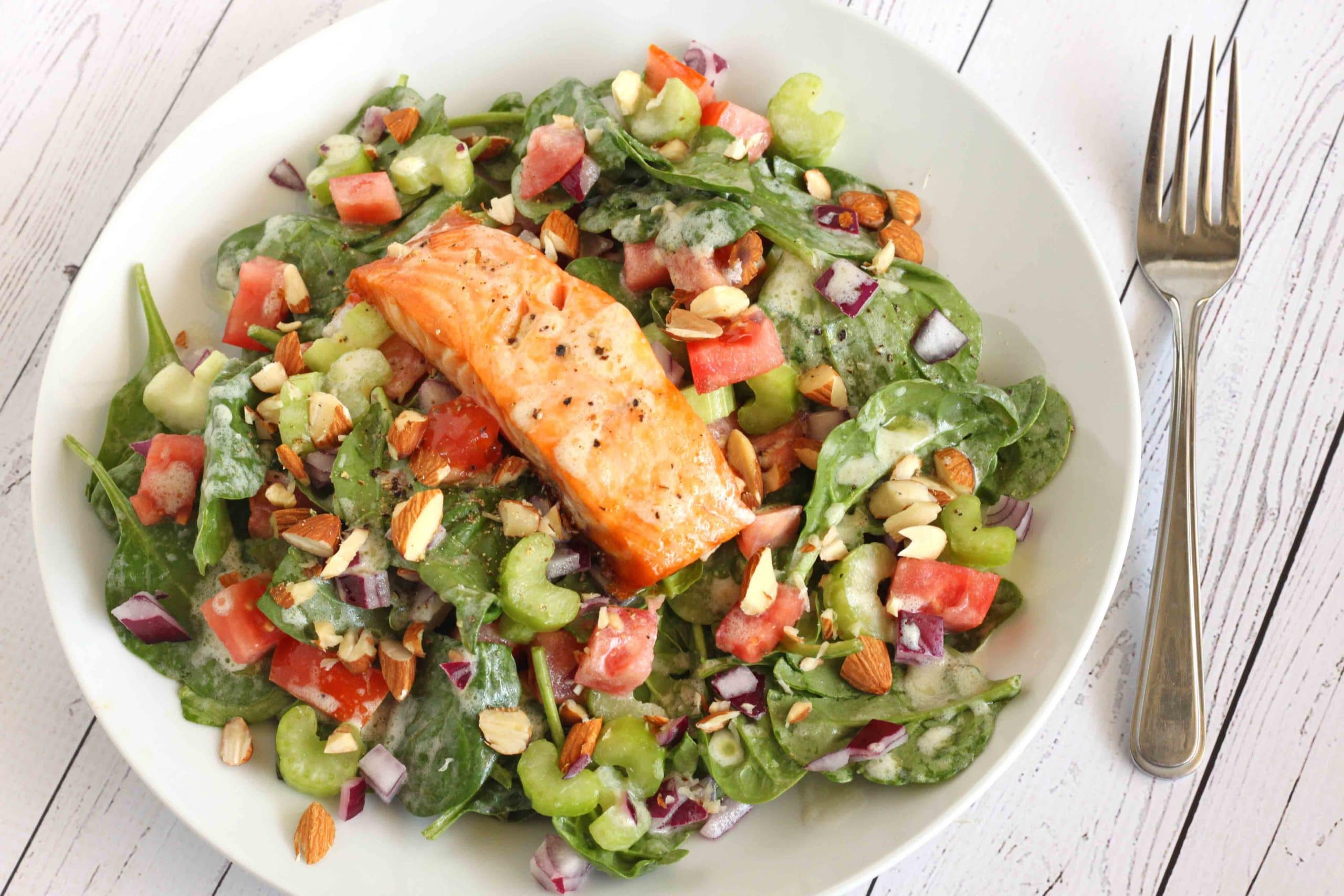 Creamy Salmon Salad by Jesse Lane Wellness #salmon