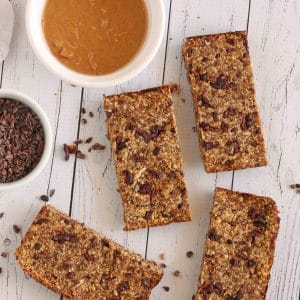 Chocolate Peanut Butter Energy Bars by Jesse Lane Lee #energybar
