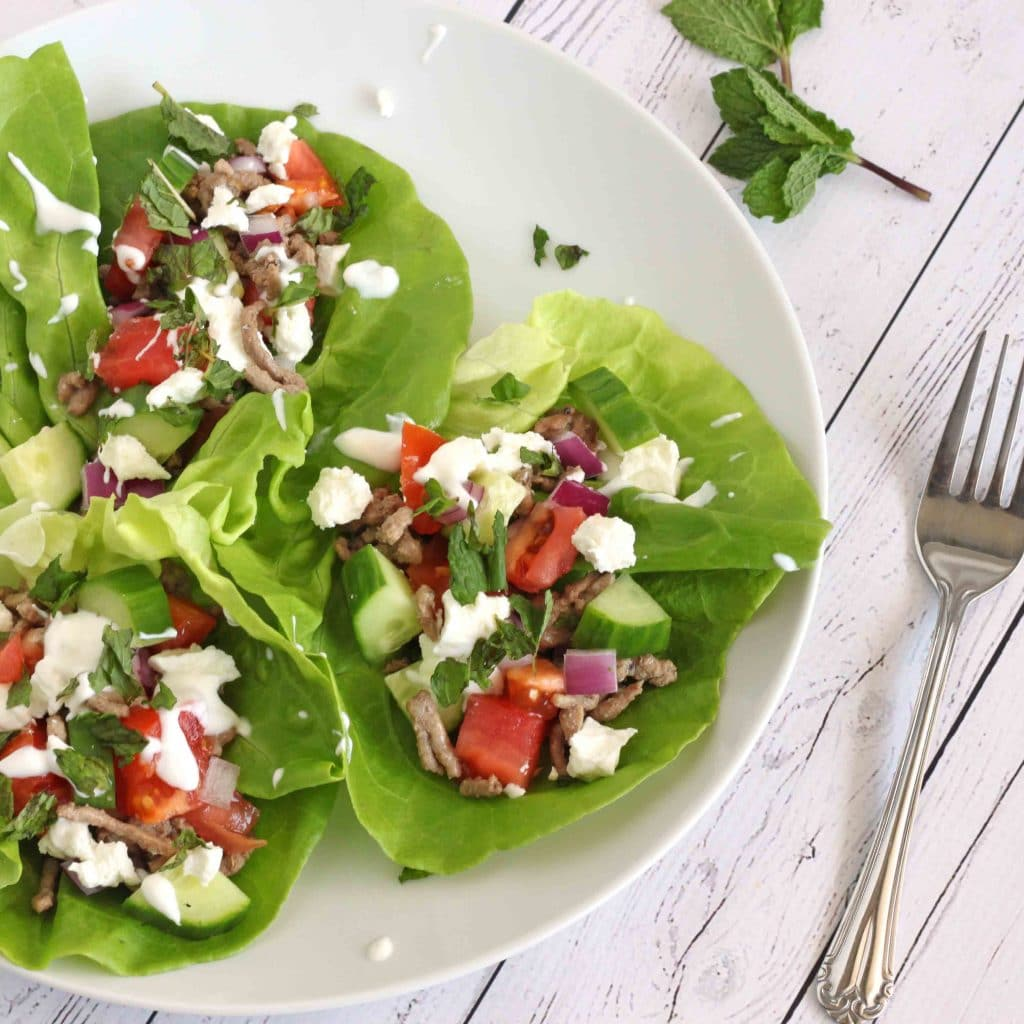 Greek Lettuce Cups by Jesse Lane Wellness