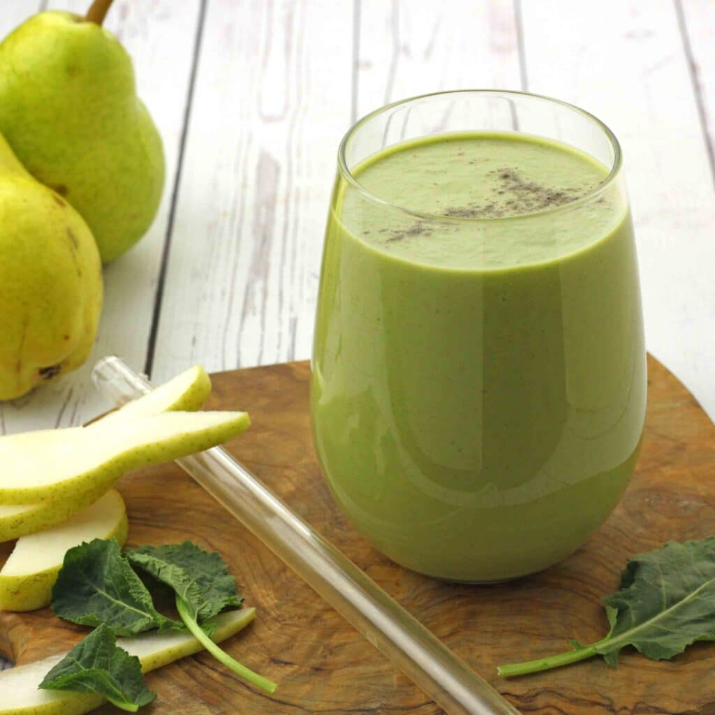 Spiced Pear Smoothie by Jesse Lane Wellness