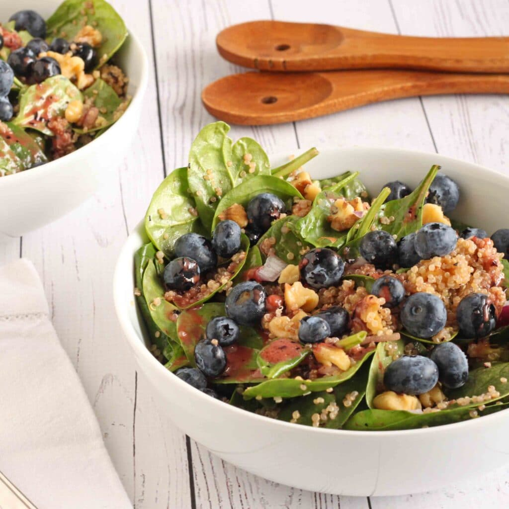 Mood Boosting Blueberry Quinoa Salad by Jesse Lane Lee