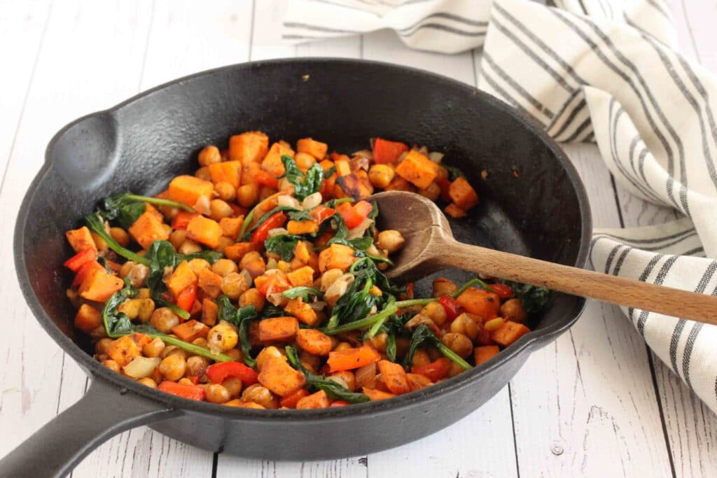 Sweet Potato Hash with Chickpeas by Jesse Lane Lee
