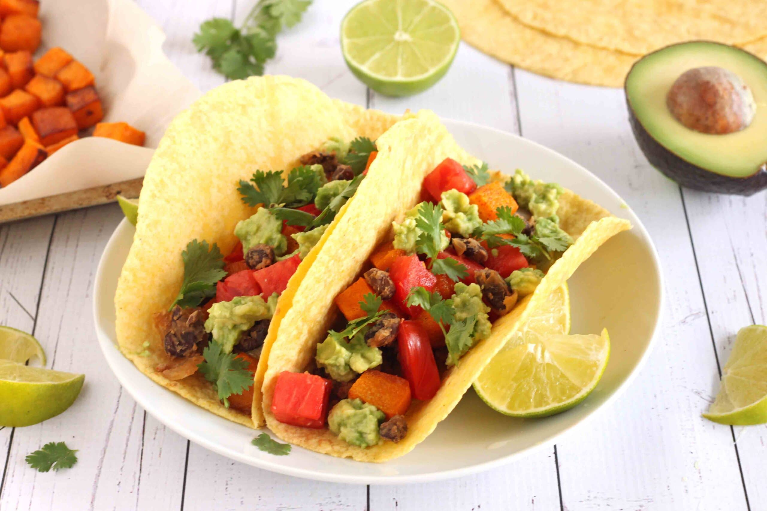 Vegan Roasted Pumpkin Tacos with Black Beans by Jesse Lane Wellness