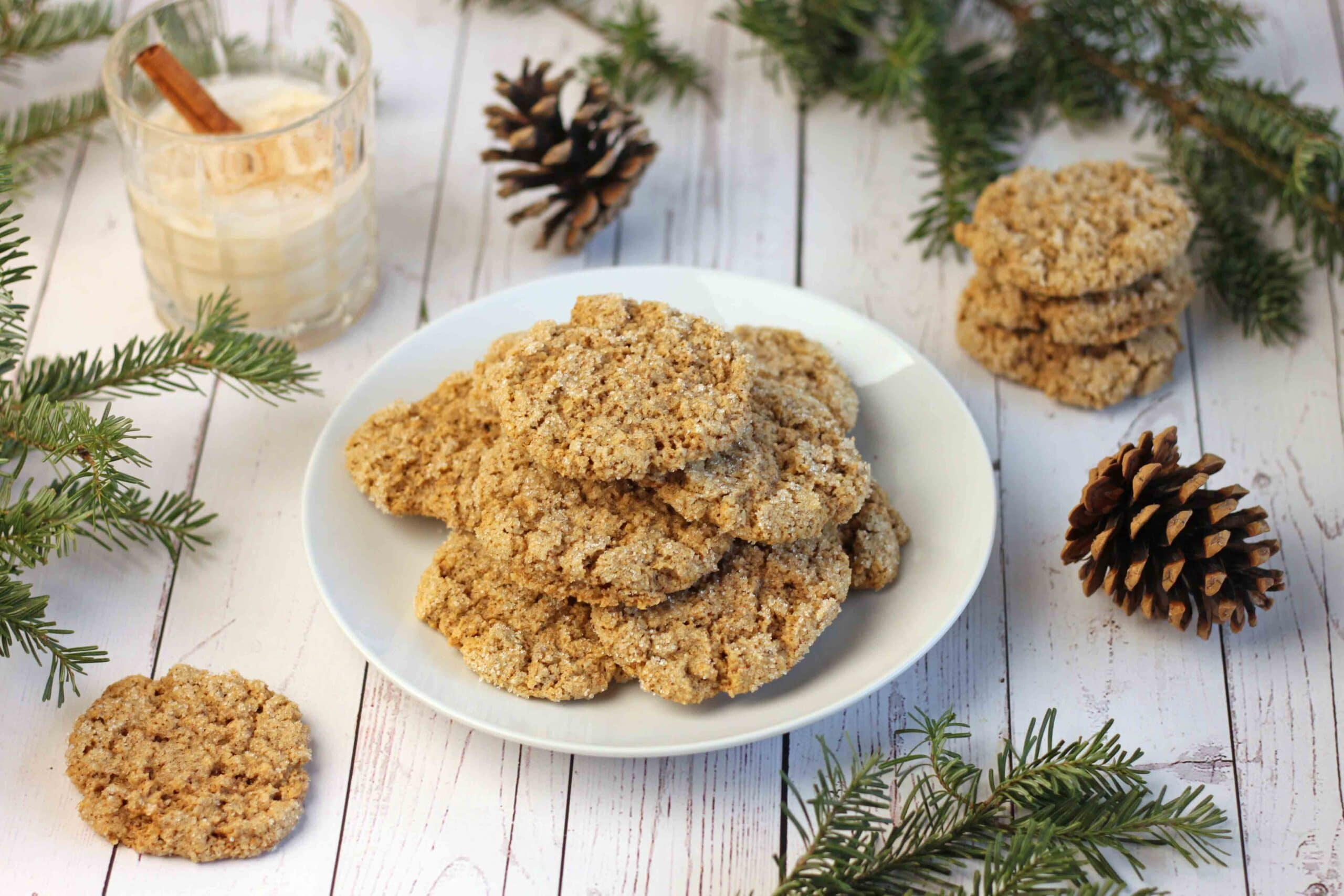 Oatmeal Eggnog Cookies by Jesse Lane Wellness