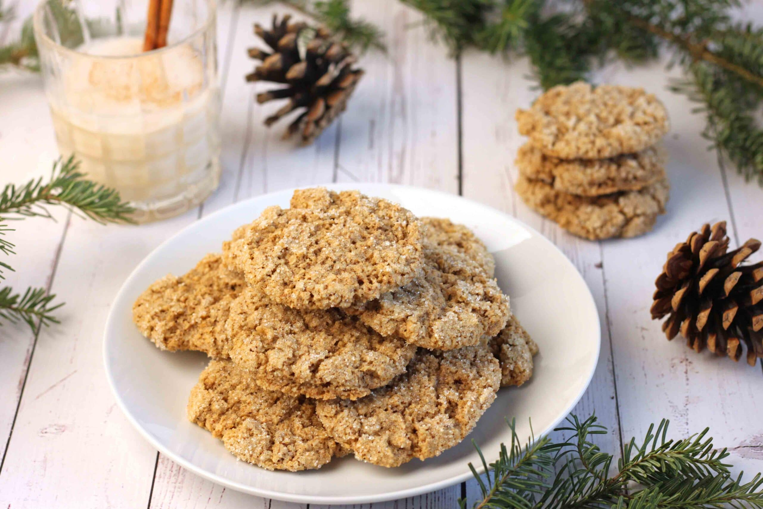 Oatmeal Eggnog Cookies gluten-free by Jesse Lane Lee