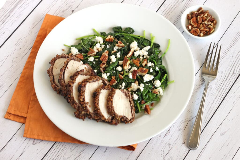 Pecan Chicken and Ginger Kale by Jesse Lane Lee