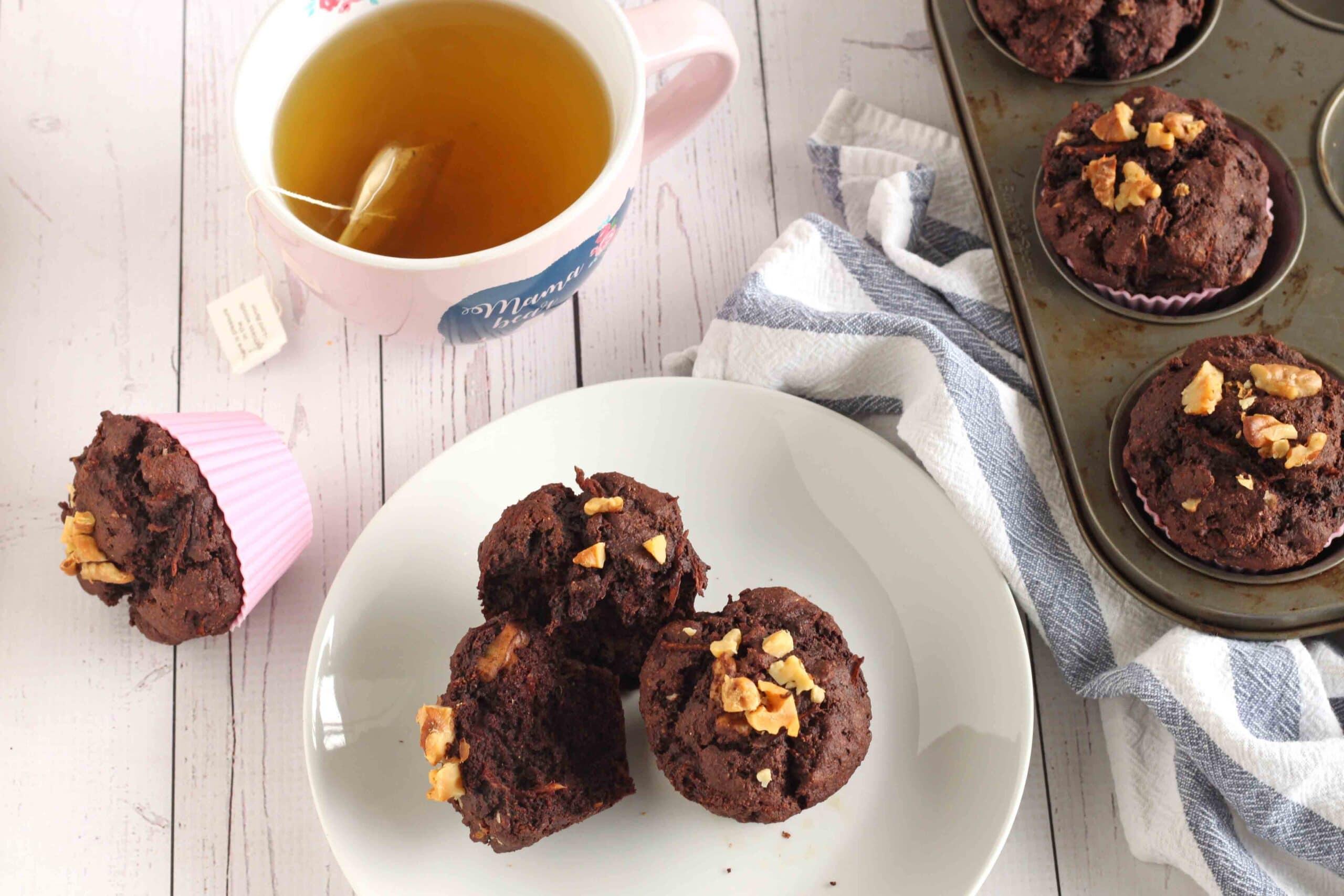 Chocolate Zucchini Muffins by Jesse Lane Lee