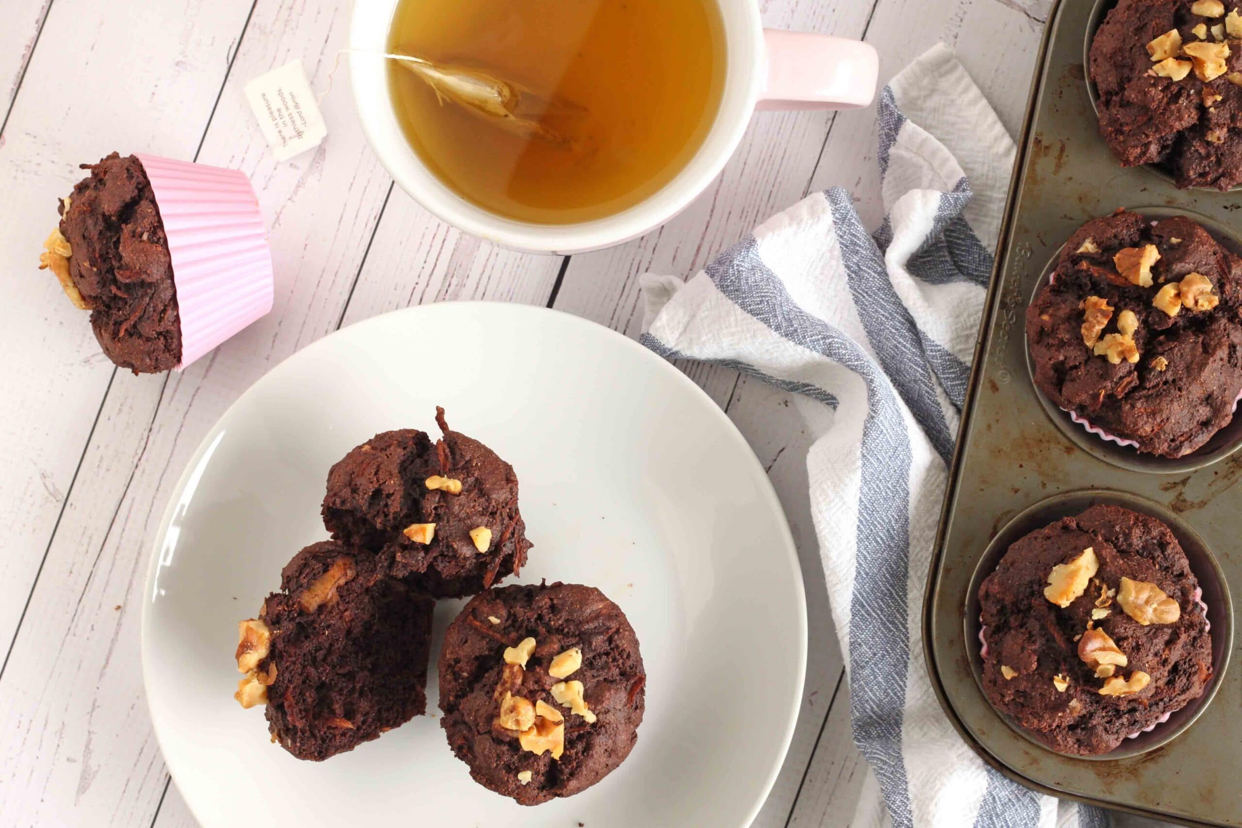 Chocolate Zucchini Muffins by Jesse Lane Wellness
