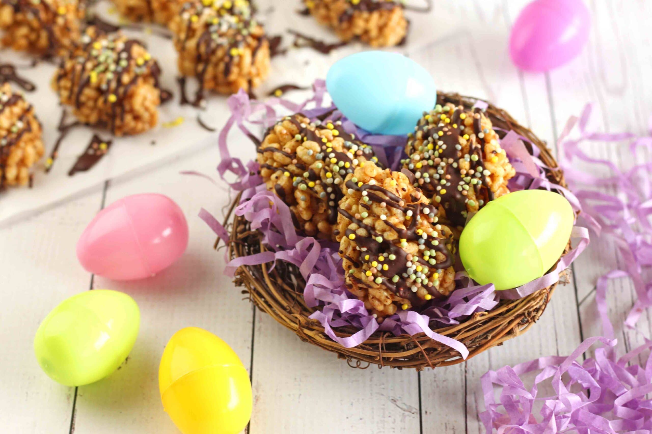 Crispy Rice Easter Eggs by Jesse Lane Wellness