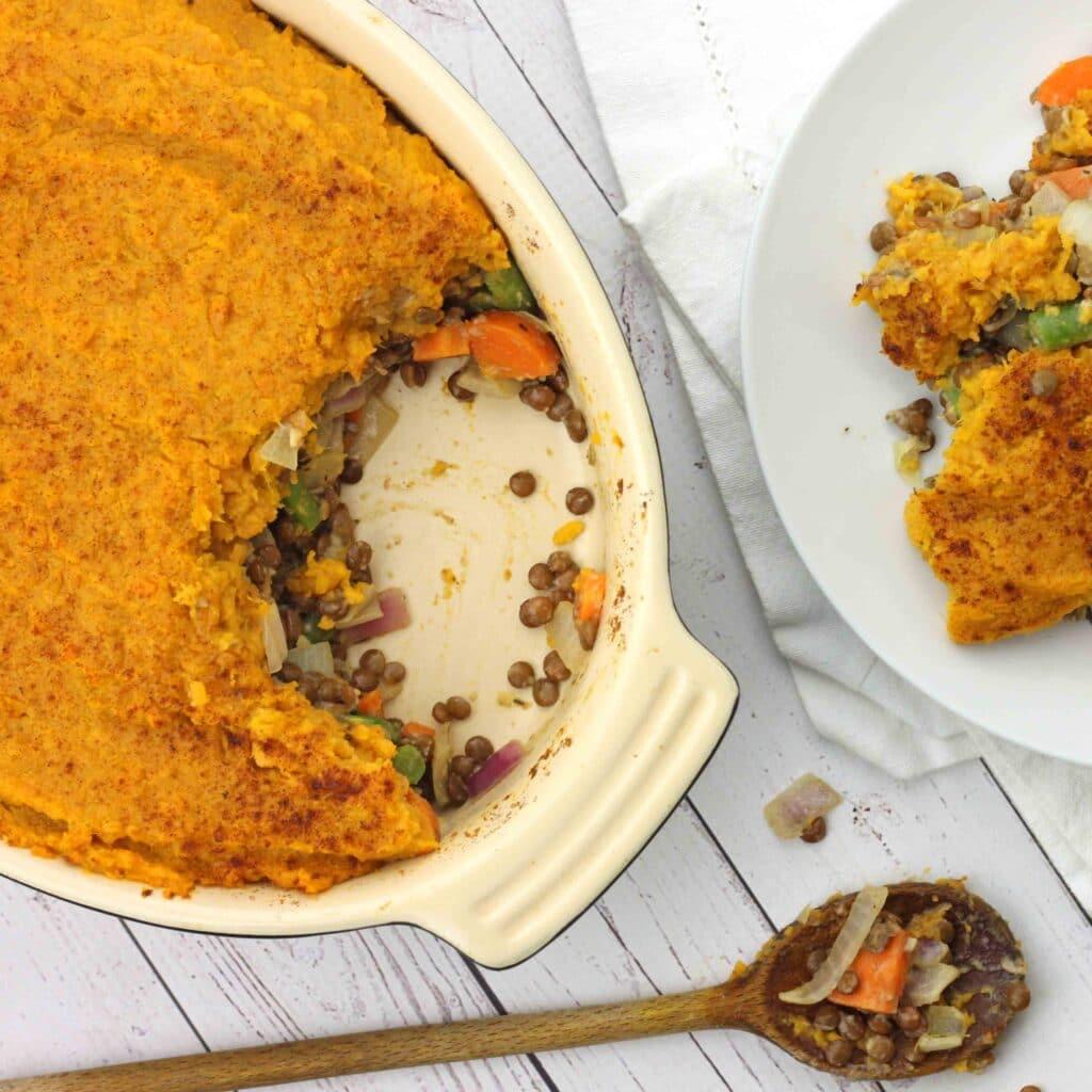 Lentil Sweet Potato Pie by @jesselwellness