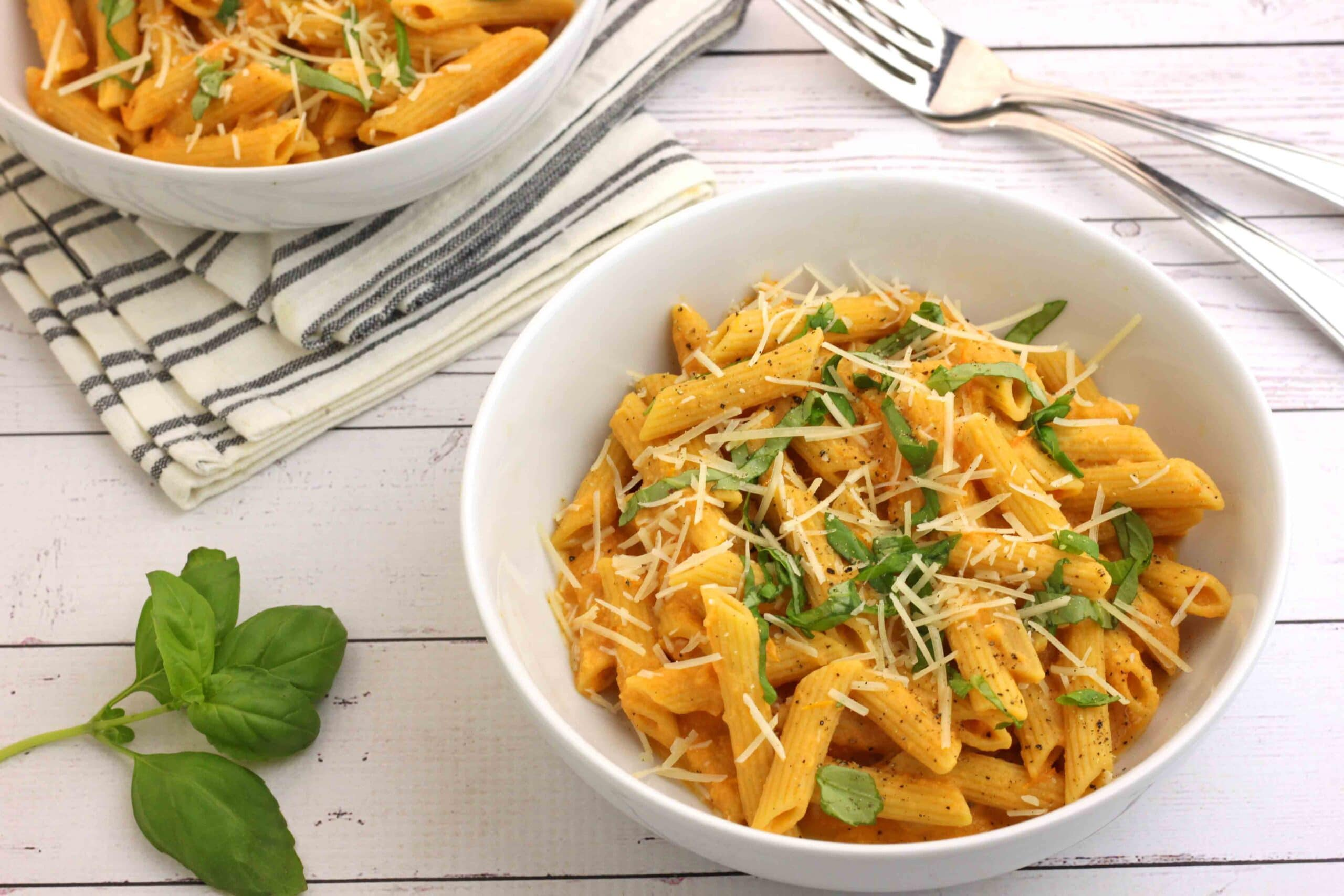 Pasta with Roasted Garlic and Tomato Sauce by Jesse Lane Wellness