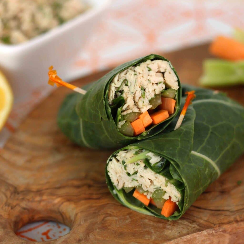 Tuna Salad Collar Wrap by Jesse Lane Wellness