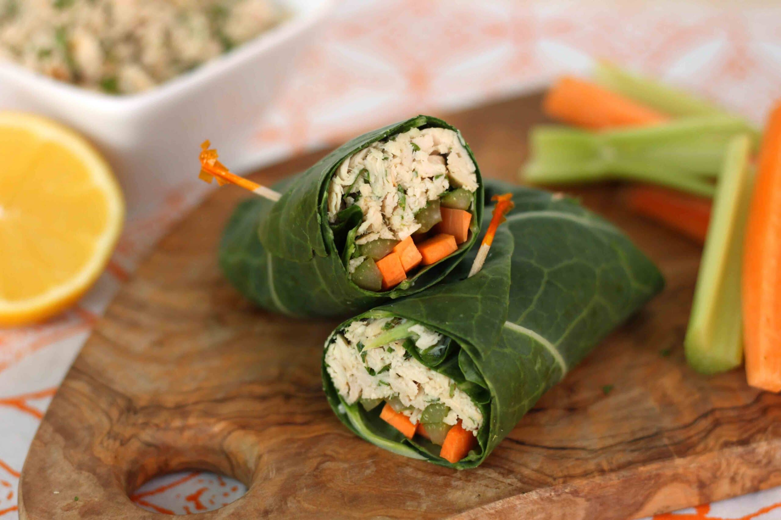 Tuna Salad Collar Wrap from Healthy Homemade Soups and Sandwiches