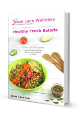 Jesse Lane Wellness Cookbook Healthy Fresh Salads Cover by @jesselwellness #salads #salad